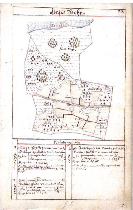 Geometrisk avmätning av Stora och Lilla Torpa, 1642