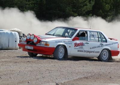 Rallybil på Torpa Gård